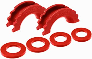 AUTMATCH Pack of 2 D-Ring Shackle Isolators Washers Kit 2 Rubber Shackle Isolators and 4 Washers Fits 3/4 Inch Shackle Gear Design Rattling Protection Shackle Cover Red