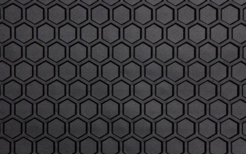 Intro-Tech Hexomat Front Row Custom Floor Mats for Select Honda S-2000 / CR Models - Rubber-like Compound (Black)