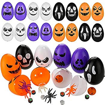 36 Pieces Halloween Skull Easter Eggs Halloween Easter Eggs Halloween Egg Scavenger Hunt for Trick or Treating Candy Box Mini Package Treat Container Gift Boxes for Halloween Party Supplies