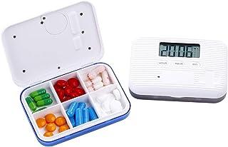 YRLHMYYH Medicine box Electronic time to remind the intelligent portable kit six-frame mini kit portable kit seal kit carry reminder