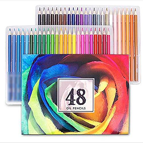 Lapices Colores Yuan Ou 48/72/120/160/180 colores juego de lápices de colores al óleo profesionales para la escuela dibujar bocetos suministros de arte 48 colores al óleo