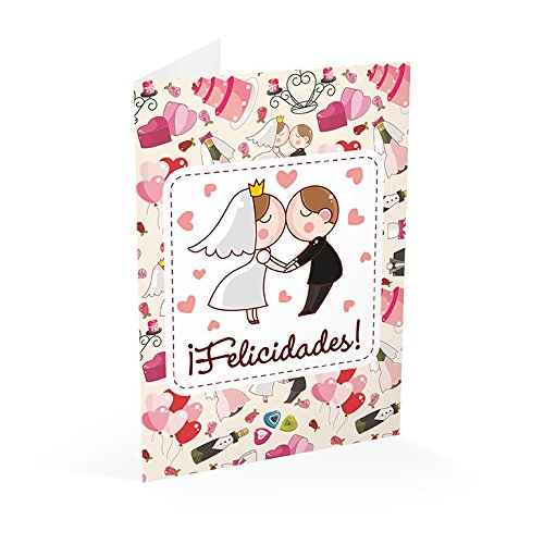 Grupo Erik Editores   Tarjeta Felicitacion A4 Boda Felicidades