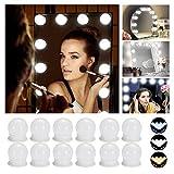 Luci da Specchio - Luci LED Stile Hollywood per Trucco,12 Lampadine Dimmerabili a Specchio...