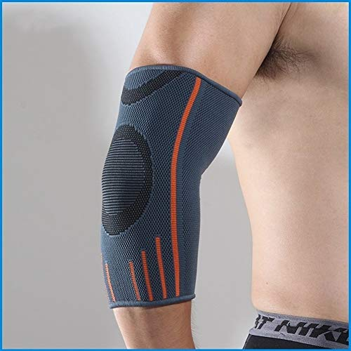 AleXanDer1 Ellenbogenbandage 2 PC-Breathable Compression Sleeve Ellenbogenbandage Unterstützung Beschützer Arm Brace for Gewichtheber Arthritis Volleyball Tennis Sport (Color : Gray, Size : L)