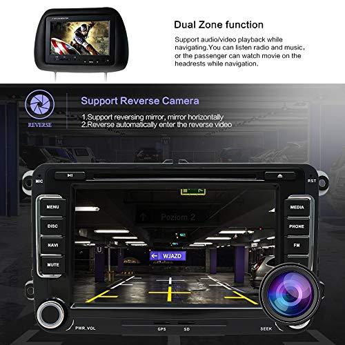 SWTNVIN Autoradio stéréo Android 10.0 pour Volkswagen Skoda Lecteur DVD Radio 7' Écran Tactile HD Navigation GPS avec Bluetooth WiFi Commande au Volant 2 Go + 16 Go