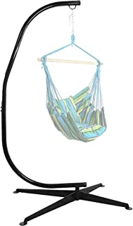 Sunnydaze Durable Steel C-Stand for Hanging Hammock Chairs - 300 Pound Capacity