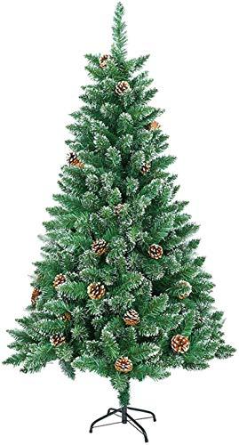 albero di natale 120 cm MCTECH 120 cm 240 Pezzi Albero di Natale con Supporto - Abete Albero Albero di Decorazione in PVC Verde (120 cm)