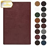 Leather Repair Patch Self-Adhesive Couch Patch Emboss Leather 5X8 inch for Sofas, Car Seats, Handbags, First Aid Patch (Wine red)