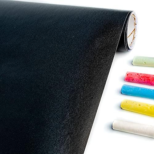 WINTEX Tafelfolie selbstklebend in schwarz – 43 x 300 cm – Kreidefolie alternativ zum klassischen Chalkboard – Kreidetafel folie wasserfest – Tafel Folie individuell zuschneidbar