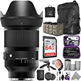Sigma 35mm f/1.2 DG DN Art Lens for Sony E Mount with Advanced Photo and Travel Bundle