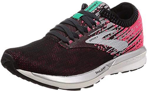Brooks Womens Ricochet Running Shoes, Pink/Black/Aqua - 7 UK