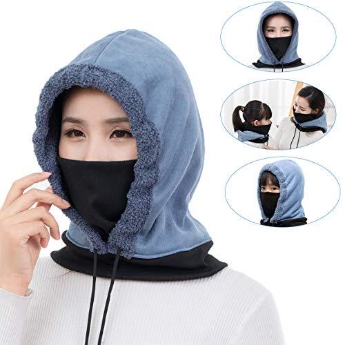 OhhGo Balaclava gezichtsmasker ski gezicht masker winter winddicht warm fleece nek warmer voor volwassenen kinderen skiën fietsen snowboarden