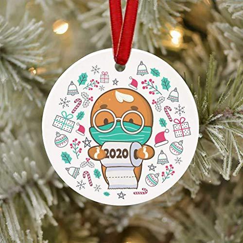 Xiongz Adornos para árbol de Navidad 2020 decoraciones navideñas navideñas bolas de Navidad colgantes en el hogar Festival decoraciones de fiesta (color : I)