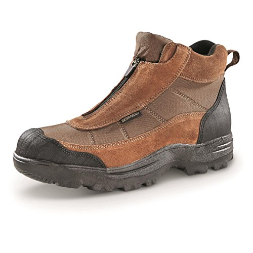Guide Gear Men's Silvercliff II Mid Waterproof Hiking Boots, Brown, 13 2E (Wide)