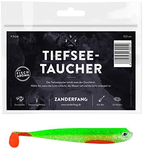 """Jenzi 4 er Pack Realistic Realistischer Gummifisch Flappy Fish/"""" 9 cm 7 g"""