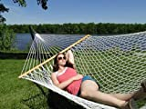 The Garden Hammocks® Comfortable Sleeping Polyester Rope Hammock Double Extra Wide