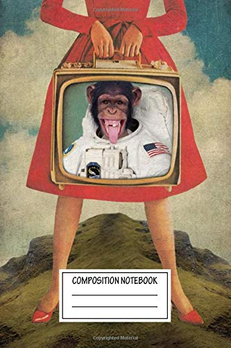 Composition Notebook: Vintage Posters Monkey See Monkey Do Animal Collection Wide Ruled Note Book, Diary, Planner, Journal for Writing