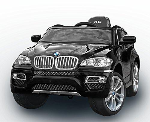 BMW X6 Original licenza, Nero Laccato Luxury, Ruote EVA morbide, 2x Motore, 12 V della Batteria, con 2,4 GHz Telecomando, Macchina bambino, Macchine e Moto elettriche, Veicoli Elettrici, Veicolo Elettrico