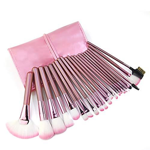 Maquillage Pinceaux, Sac Brosse Sangle Rose Professionnelle 22Pcs Cosmétiques Pour La Fondation Kabuki Fard À Joues Blending Fard À Paupières Correcteur Cosmétique Pinceaux,Rose