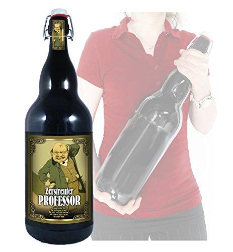 Zerstreuter Professor - 3 Liter XXL-Flasche Bier mit Bügelverschluss