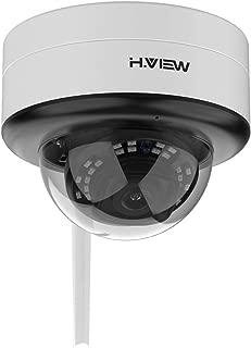 H.View ドーム型防犯カメラ 500万画素 ワイヤレス カメラ wifi対応 5MP 2.8mmレンズ 内蔵オーディオ IP66防水防塵 24pcs赤外線ライト 暗視撮影25m ネットワークカメラ IPカメラ Ios/Android/Windows対応、アプリ/メールお知らせ、防犯カメラ 屋外/屋内用 日本語取扱説明書付き 最大128GB対応 (PTZではなく)