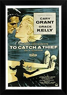 CANVAS ON DEMAND to Catch A Thief - Movie Poster Black Framed Art Print, 19