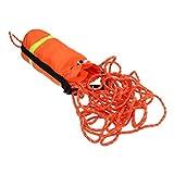 カヤック 水に浮く ライフライン レスキュー スローロープバッグ 全6サイズ - リフレクティブ&オレンジ, 16m