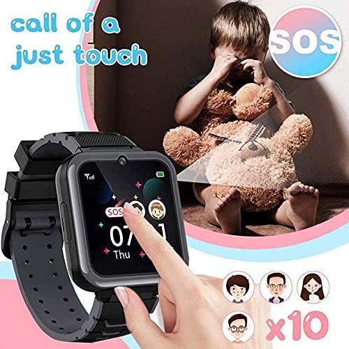 Montre Connectée Enfant Garçon 7 Jeux-MP3 Montre Intelligente Enfants, SOS Appels téléphoner Caméra Lampe de Poche Réveil Calculatrice Enfant Smartwatch Fille Garçon 3-14 Ans Cadeau avec 1GB SD Card