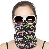 Schnauzers In Jammies - Pañuelo elástico antipicaduras para la cabeza a prueba de sol, multifuncional, suave, polaina, cara, cuello, bufanda, pasamontañas para deportes al aire libre