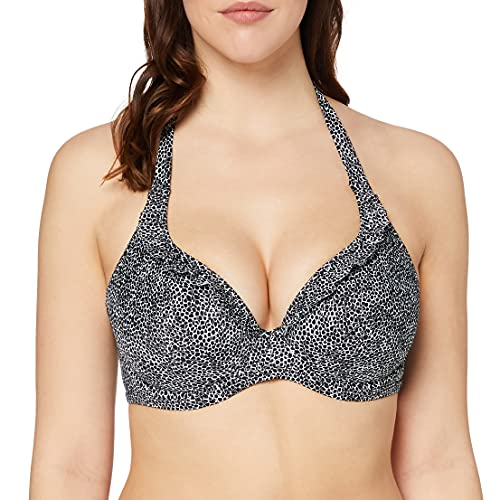 Freya Women's Run Wild Plunging Halter Biking Top with Underwire, Black, 34FF
