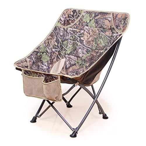 MXueei - Sillas Plegable Portátil al Aire Libre Silla de Pesca Volver Barbacoa Taburete de Playa Sketch Chair Moon Chair Lazy Chair