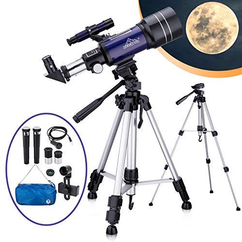 pas cher un bon Télescope astronomique pour enfants et adultes, télescope réfracteur HD portable 70 mm,…