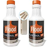 Floetrol Pouring Medium for Acrylic Paint | 1 Quart Bottles (2-Pack) | Flood Flotrol Additive | 20 Pixiss Wood Mixing Sticks Pouring Bundle