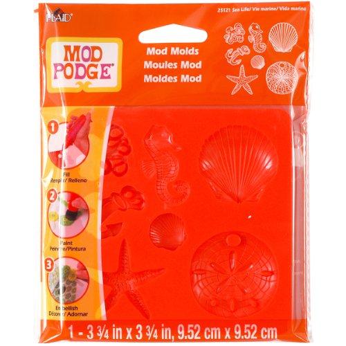 Mod Podge Mod Mold (3-3/4 by 3-3/4-Inch), Sea Life