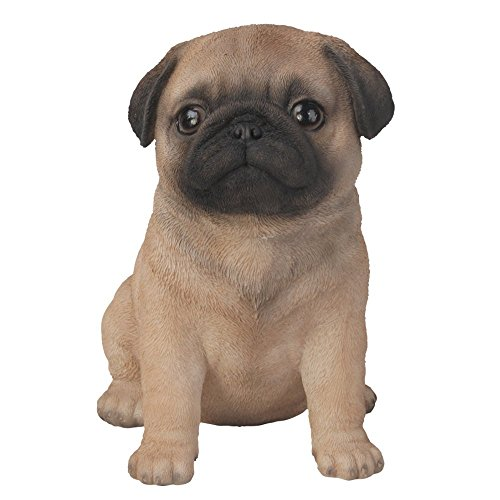 Vivid Arts - Muñeco, diseño de perro pug, color marrón y negro