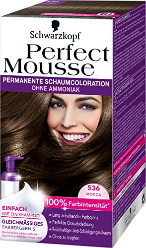 Perfect Mousse permanente Schaumcoloration, 536 Mocca, 3er Pack (3 x 93 ml)