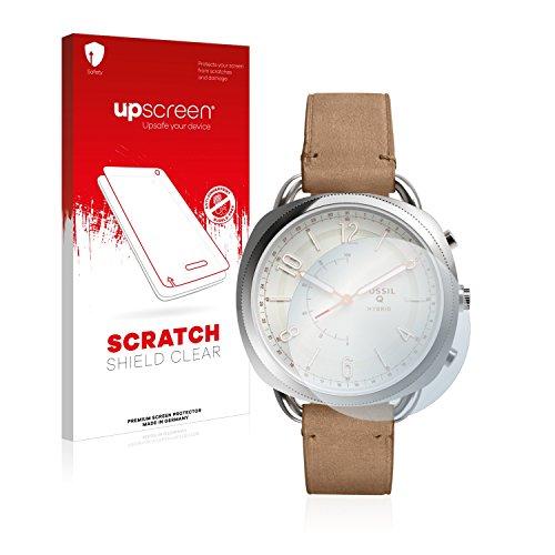 upscreen Schutzfolie kompatibel mit Fossil Q Accomplice – Kristallklar, Kratzschutz, Anti-Fingerprint