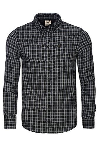 Lee Herren Freizeit-Hemd Schwarz, Schwarz S