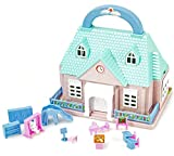 Puppen-Haus Spiel-Haus Aufklappbar Mini-Puppen-Haus Mädchen-Schule Puppe Kinder Kinder-Spielzeug...