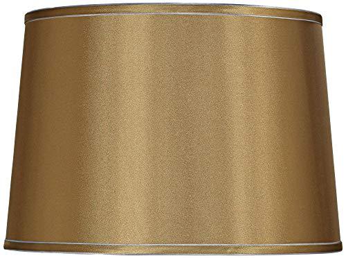 Sydnee Gold with Silver Trim Medium Drum Lamp Shade 14