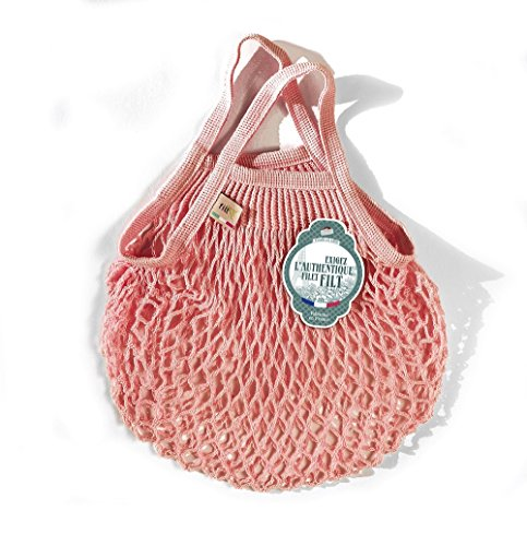 Filt Einkaufsnetz/Einkaufstasche/Netztasche/Net Bag aus Baumwolle, small Size, (rosa)