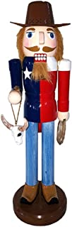 Santa's Workshop Inc Texas Cowboy with Longhorn Skull and Lasso Wooden Christmas Nutcracker 14 Inch