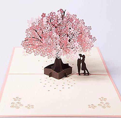 3D Karte Anlising Pop up Karte Hochzeitseinladungen Hochzeitseinladungen Valentinstag Karte Geburtstagskarte Glückwunschkarte für Valentinstag Hochzeitstag Muttertags