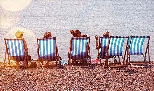 Phinli Puzzle De 1000 Piezas, Rompecabezas De Cuatro Personas En Sillones Cerca De La Playa para Niños Adultos