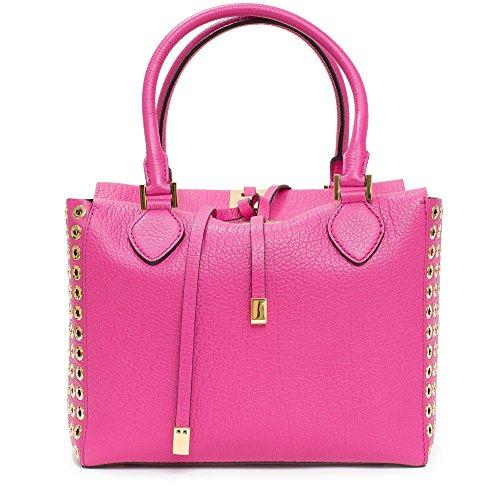 Michael Kors Collection Fuschia Leather Grommet and Gold Miranda Bag...