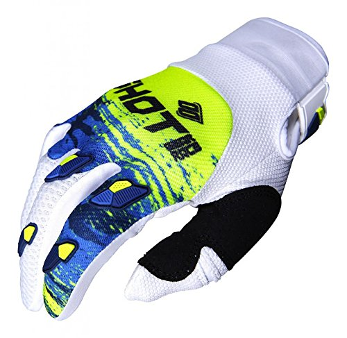 SHOT par de guantes Cross Contacto Counter, azul/amarillo neón, talla XXXL
