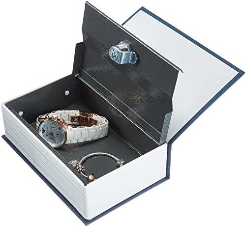 AmazonBasics Book Safe, Key Lock, Small, Blue