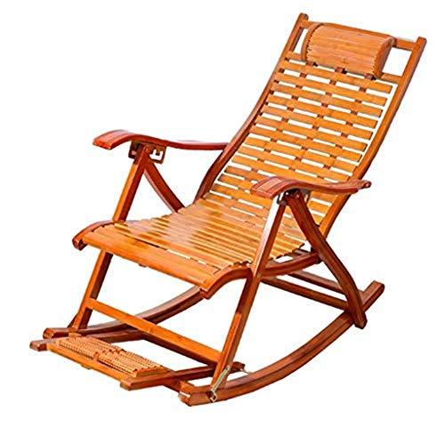 Sillas de jardín, sillones reclinables Gravedad cero, sillas de patio, sillones reclinables, mecedora de bambú, silla plegable para adultos, siestas en el hogar, sillas frescas, silla de almuerzo para