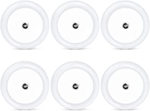 TENACHI Plug in LED Night Light Lamp Wall Lights with Dusk to Dawn Light Sensor 0.5W 6 Pack Round Circle - Daylight White