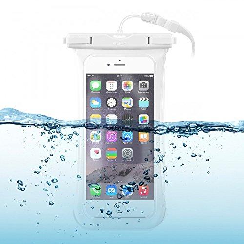 MY-AXE Funda protectora impermeable universal para smartphone de hasta 5,7 pulgadas, color blanco